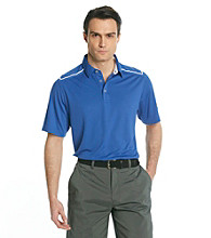 Callaway® Men's Deep Ultra Marine Short Sleeve Polo with Striped Shoulder