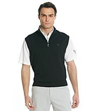Callaway® Men's Black Quarter-Zip Sweater Vest