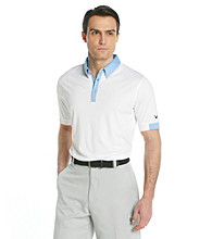 Callaway® Men's White Short Sleeve Solid Cuffed Polo