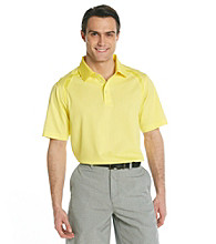 Callaway® Men's Aurora Yellow Short Sleeve Mini Jacquard Polo