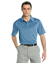 Callaway® Men's Riviera Blue Short Sleeve Mini Jacquard Polo