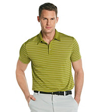 Callaway® Men's Woodbine Green Short Sleeve Mesh Striped Polo