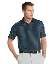 Callaway® Men's Navy Short Sleeve Mesh Striped Polo