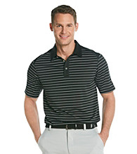 Callaway® Men's Black Short Sleeve Mesh Striped Polo