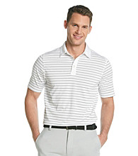 Callaway® Men's Bright White Short Sleeve Mesh Striped Polo