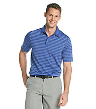 Callaway® Men's Deep Blue Short Sleeve Mesh Striped Polo