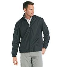 Callaway® Men's Anthracite Black Long Sleeve Quarter-Zip Wind Shirt
