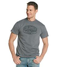 Columbia Men's Charcoal Heather Greater Outdoor Gear Screen Tee