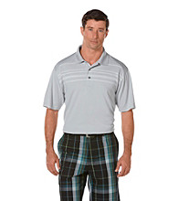PGA TOUR® Men's Microchip Argyle Rope Printed Polo