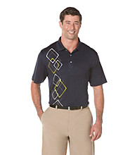 PGA TOUR® Men's True Navy Floating Argyle Printed Polo