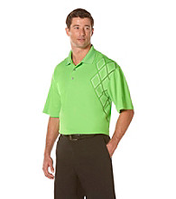 PGA TOUR® Men's Jasmine Green Assymetrical Printed Polo