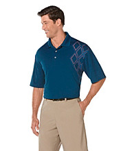 PGA TOUR® Men's Poseidon Assymetrical Printed Polo