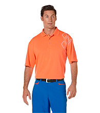 PGA TOUR® Men's Nasturtium Assymetrical Printed Polo