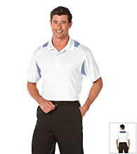 PGA TOUR® Men's Bright White Fitted Colorblock Polo