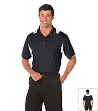 PGA TOUR® Men's True Navy Fitted Colorblock Polo