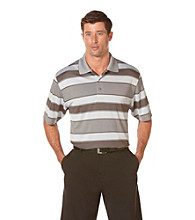 PGA TOUR® Men's Microchip Birdseye Rugby Striped Polo