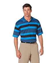 PGA TOUR® Men's French Blue Birdseye Rugby Striped Polo