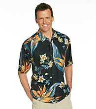 Tommy Bahama® Men's Black Short Sleeve Floral en Fuego Print Woven