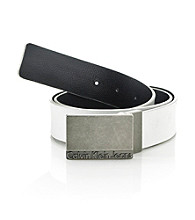 Calvin Klein® Men's White 32MM Reversible Leather Belt