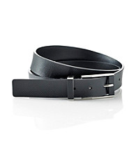 Calvin Klein® Men's Black 32MM Flat Strap Leather Belt
