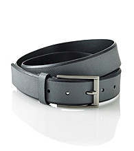 Calvin Klein® Men's Grey 35MM Flat Strap Leather Belt