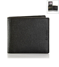 Calvin Klein® Men's Black Leather Passcase Wallet