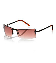 Kenneth Cole New York® Men's Brown Rimless Rectangle Sunglasses