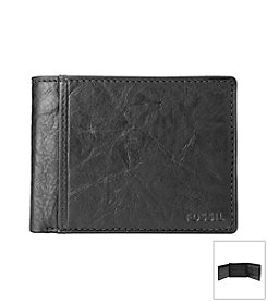 Fossil® Men's Ingram Leather Bifold with Flip ID Wallet