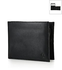 Lauren® Men's Black Burnished Leather Passcase Wallet