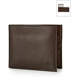 Lauren® Men's Brown Burnished Leather Passcase Wallet