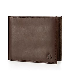 Lauren® Men's Brown Burnished Leather Billfold Wallet