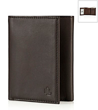 Lauren® Men's Brown Burnished Leather Trifold Wallet