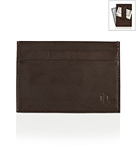 Lauren® Men's Brown Burnished Leather Money Clip
