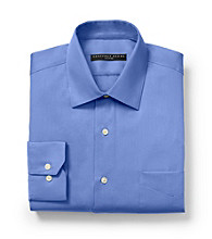Geoffrey Beene® Men's Bluebird Solid Fitted Long Sleeve Dress Shirt