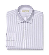 MICHAEL Michael Kors® Men's Purple Regular Fit Long Sleeve Dress Shirt