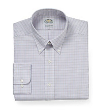 Eagle® Men's Quartz Long Sleeve Grid Buttondown Dress Shirt