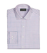 Lauren® Men's Pink/Navy Warren Tattersall Broadcloth Dress Shirt