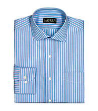 Lauren® Men's French Blue Warren Striped Broadcloth Dress Shirt