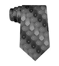 Van Heusen® Men's Black Shadow Geo Tie