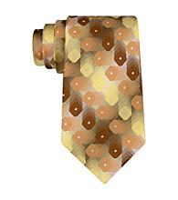 Van Heusen® Men's Yellow Shadow Geo Tie