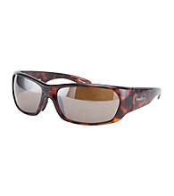 Perry Ellis Portfolio® Men's Tort Mod Rectangle Wrap Sunglasses