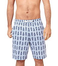 Nautica® Men's Crystal Bay Blue Toggle Fish Print Knit Pajama Short