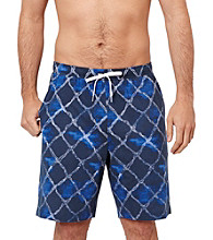 Nautica® Men's Journey Blue Rope Net Print Knit Pajama Short