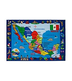 Fun Rugs® Fun Time® Map of Mexico Rug