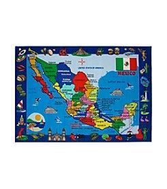Fun Rugs® Fun Time® Map of Mexico Rug