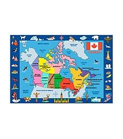 Fun Rugs® Fun Time® Map of Canada Rug