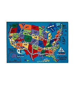Fun Rugs® Fun Time® Travel Fun Rug