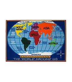 Fun Rugs® Fun Time® World Map Rug