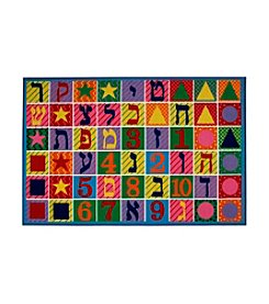 Fun Rugs® Fun Time® Hebrew Numbers and Letters Rug