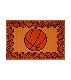 Fun Rugs® Fun Time® Basketball Time Rug